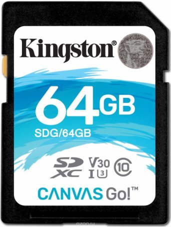 Kingston SDXC Canvas Go! UHS-I Class U3 64GB карта памяти