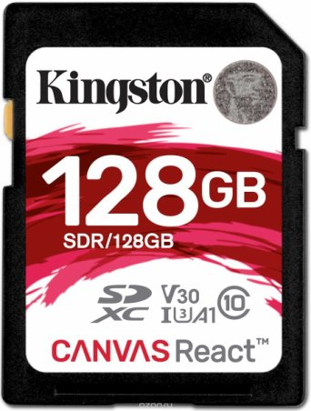 Kingston SDXC Canvas React UHS-I Class U3 128GB карта памяти